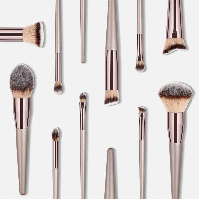 Professional Champagne Color Makeup Brushes