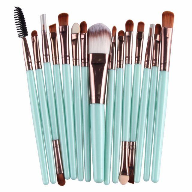 Set of 15 Makeup Brushes