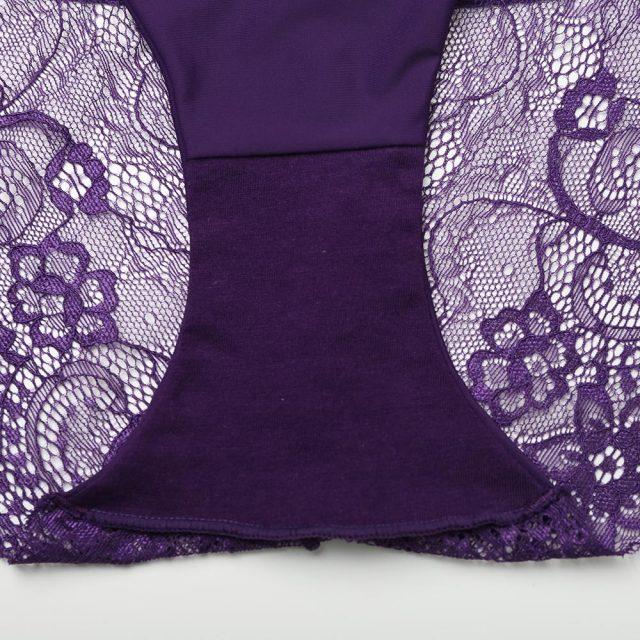 Women's Lace Patterned Cotton Panties